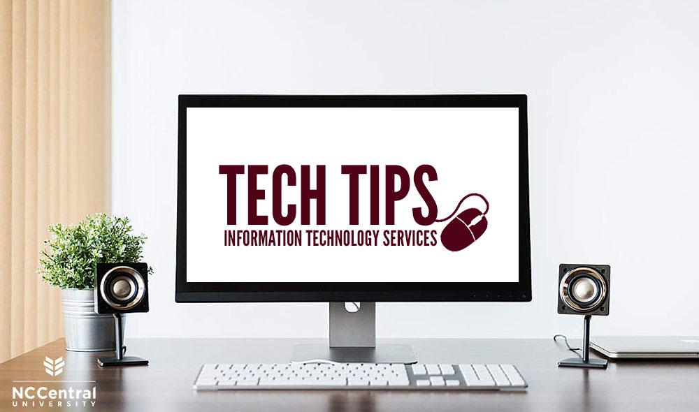Computer monitor on a desk with the Tech Tips logo on the screen